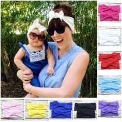 Bandeaux set comme maman, modèle oreilles de lapin memoryform, couleur au choix