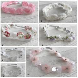 Set bandeau et bracelet pour shooting photo new born, modèle au choix
