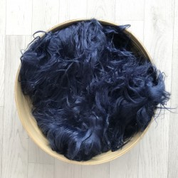 Pose bébé poils longs volatiles bleu marine