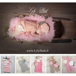 Tenue special photographie nouveaux nés, couleur au choix