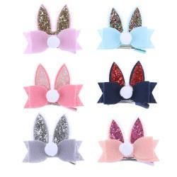 Barrettes oreilles de lapin, couleur au choix