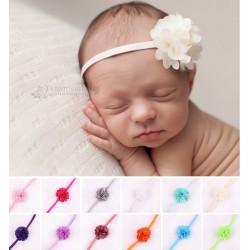 Bandeaux cheveux Froufrou élastique fin, couleur au choix