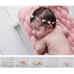 Couronne serre tête spécial nouveaux nés, modèle au choix