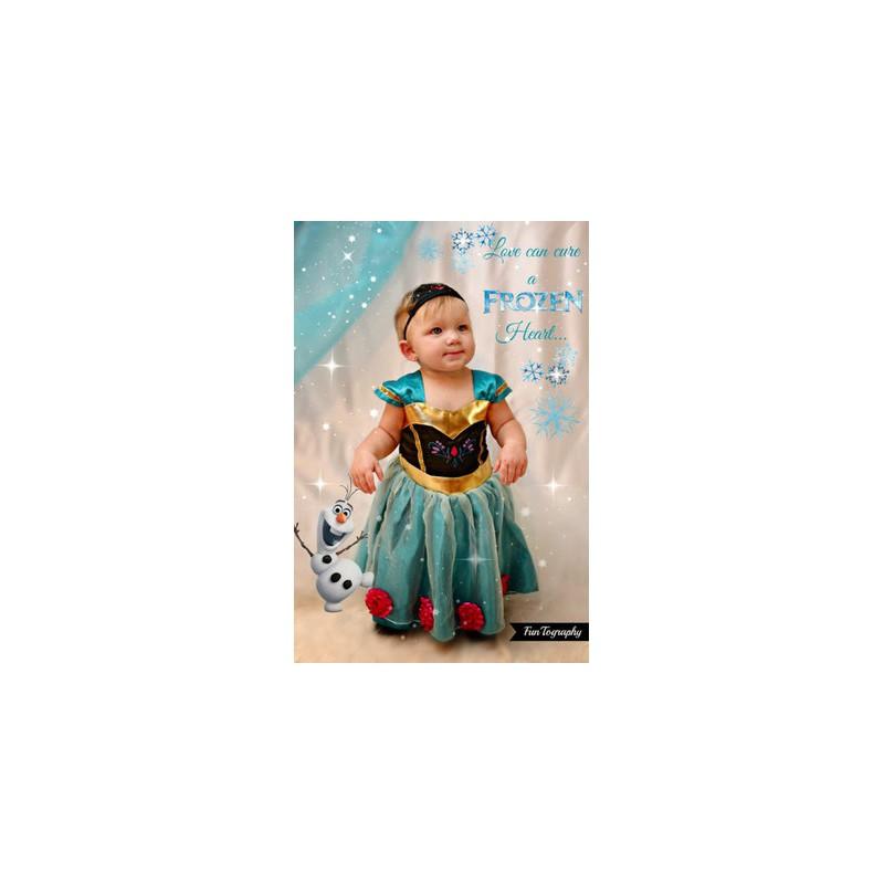 Déguisement 2 pièces Anna Reine des Neiges 18 mois à 6 ans