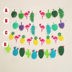 Guirlande décoration anniversaire, modèle flamand rose, ananas , cactus au choix