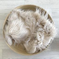 Pose bébé poils longs volatiles beige clair