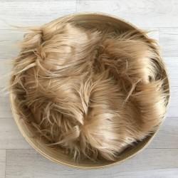 Pose bébé poils longs volatiles beige