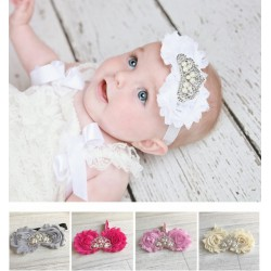 Bandeaux Couronne Strass et Perles, modèle Valentine, couleur au choix