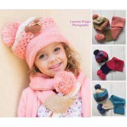 Set bonnet et écharpe Minnie, 1 à 6 ans