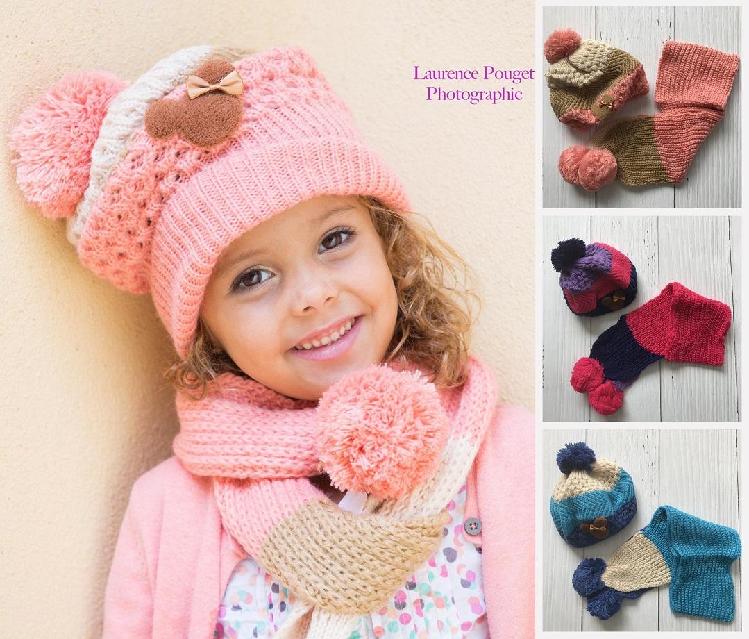 b02f8ad0b98d Set bonnet et écharpe Minnie, 1 à 6 ans