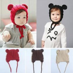 Bonnet bébé, modèle ourson