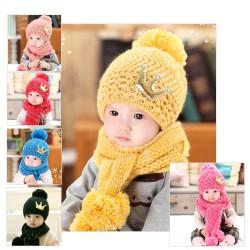 Ensemble bonnet et écharpe filles ou garçons, 2 à 5 ans