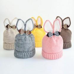 Bonnet lapin doublé, 1 à 3 ans
