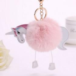 Porte clés accessoire de sac, modèle Licorne