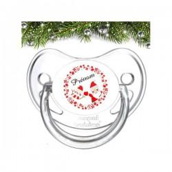 Sucette bébé Happy Noël à personnaliser