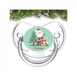 Sucette personnalisée père Noël et sapin