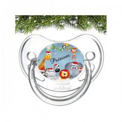 Sucette personnalisée animaux de Noël