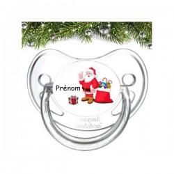Sucette personnalisée père Noël et cadeaux