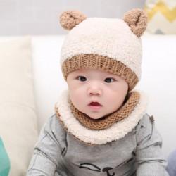 Ensemble bébé snood et bonnet chat, 3 à 15 mois