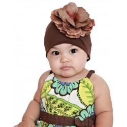 Bonnet fleur bébé/enfant en coton, naissance à 12 ans