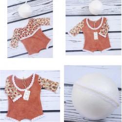 Body laine souple et dentelle pour nouveaux nés, couleur au choix