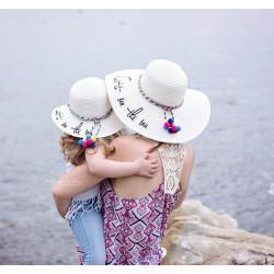 Chapeau duo set capeline comme maman ou comme ma soeur