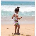 Maillot de bain shorty 2 pièces thème tropical 1 à 5 ans