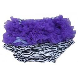 Culotte bébé bloomer,cache couche,Modèle zébre violet de 0 à 3 ans