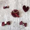 Lot 5 barrettes magiques, anti-glisse spécial modèle Cherry Cherry