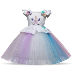 Robe Anniversaire Princesse Licorne, 1 à 8 ans