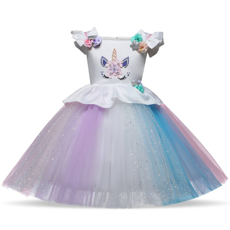 Robe Princesse Licorne1 À Anniversaire 8 Ans uOPXZTki