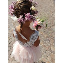 Robe haute couture Nina , 6 mois à 10 ans, couleur au choix