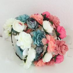 Couronne de fleurs...