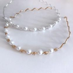 Serre tête perles et strass