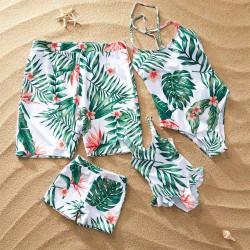 Set maillot modèle Tropical blanc