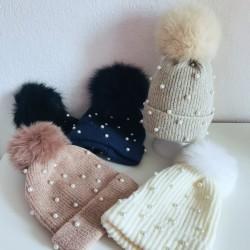 bonnet perlés