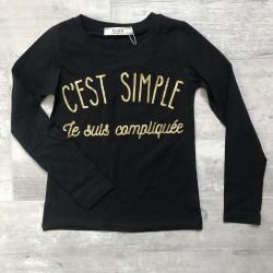 T shirt ML Noir C'est...