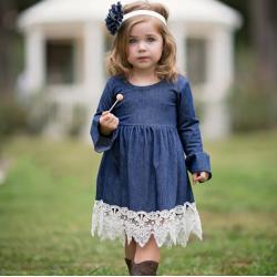 robe enfant bohème jean