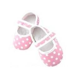 Chaussure souple bébé 0 à 12 mois, modèle Polka noir