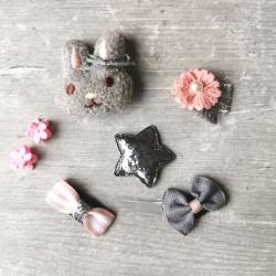Barrettes magique pour bébé, modèle lapin, étoile, fleur