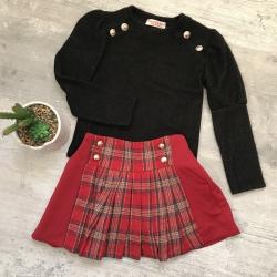 ensemble jupe écossaise