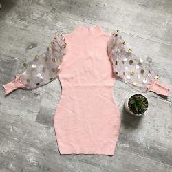 robe lainage fille manche bouffante
