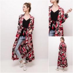 Kimono long imprimés rouge...