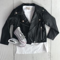 Perfecto simili cuir noir,...