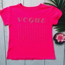 T-shirt vogue rose fluo, de...