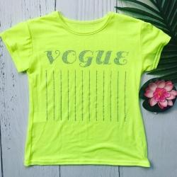 T-shirt vogue jaune fluo,...