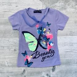 T-shirt Papillon lilas, 2 à...