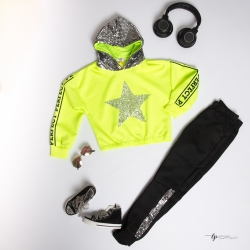 Ensemble sport girly jaune...