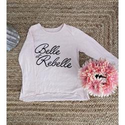 T-shirt ML rose pâle Belle...