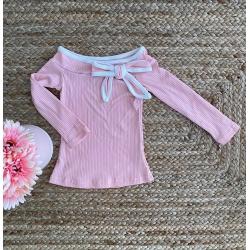 Top coton rose Claudine 2 à...